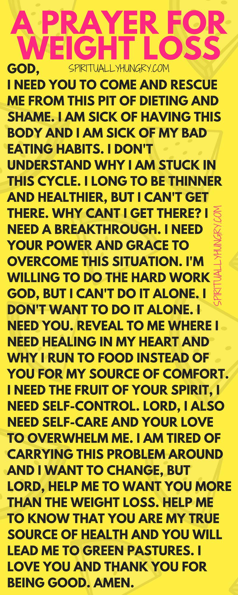 A Weight Loss Prayer - Spiritually Hungry