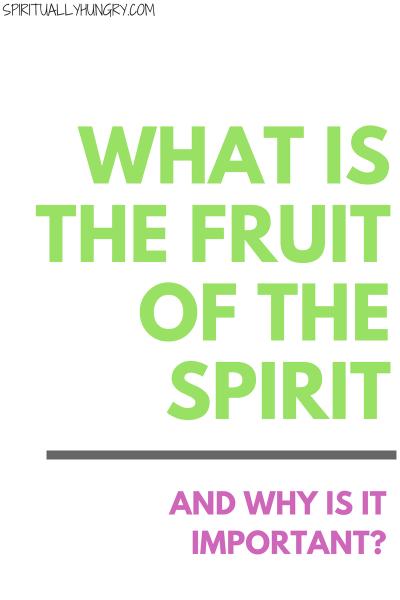 Fruit Of The Spirit Bible Study