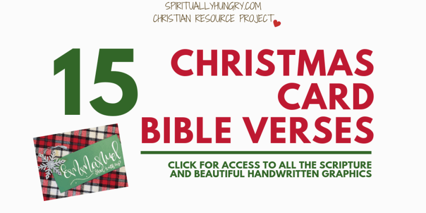 15 christmas verses for cards spiritually hungry