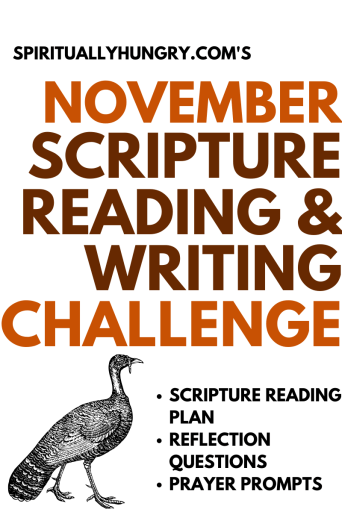 November Scripture Reading Challenge | Bible Study | Scripture List