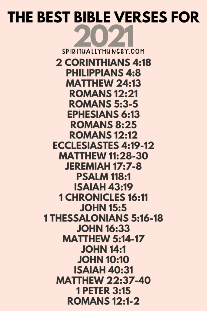 The Best Bible Verses For 2021