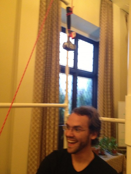 Testing the load-capacity of the shower frame