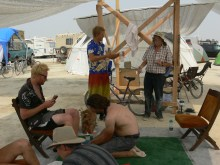Washing Feet at Burning Man 2013