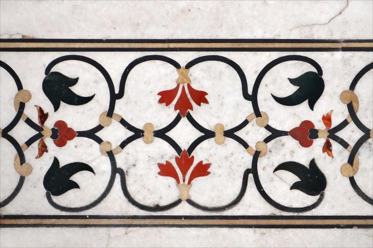 タージ・マハル、壁の装飾