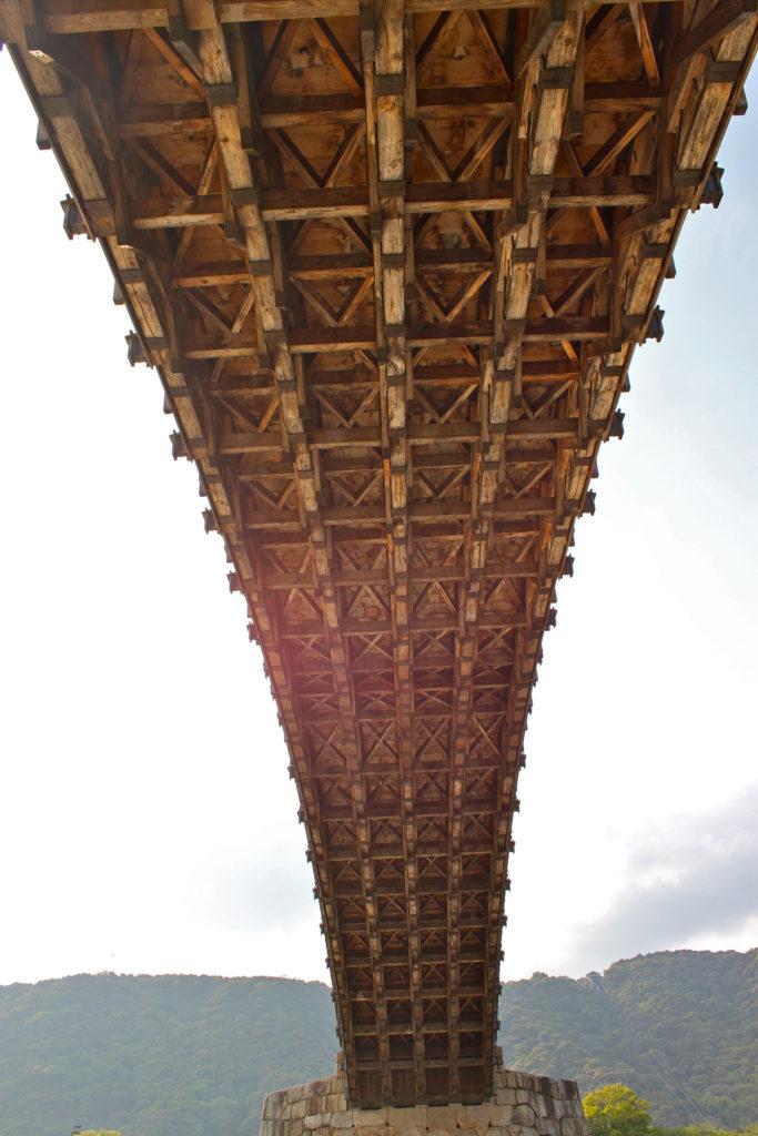錦帯橋の裏側