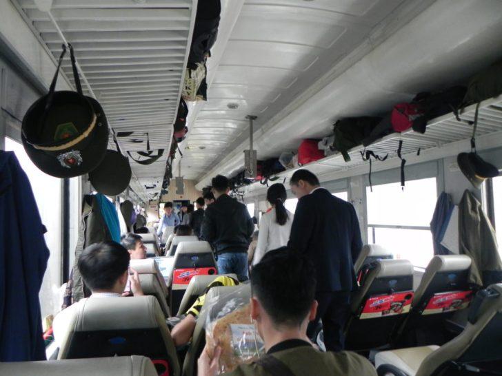 ベトナム統一鉄道車内