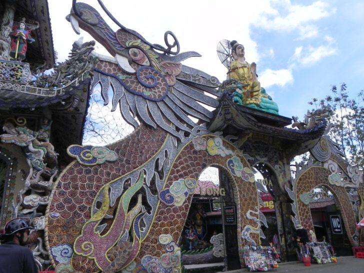 見事な龍のモザイク