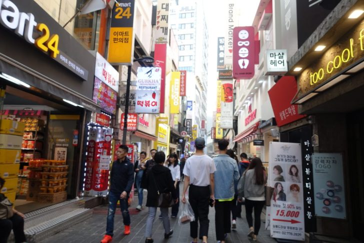 韓国の商店街2