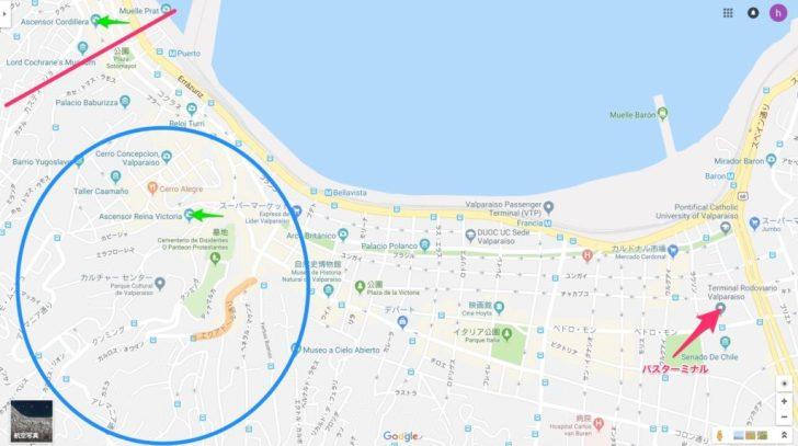 バルパライソの地図