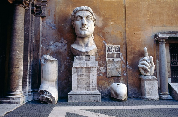 Fragments from a colossal statue of Constantine