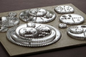 Acrylic gears of different sizes