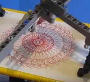 Lego Technic spirograph machine by PG52