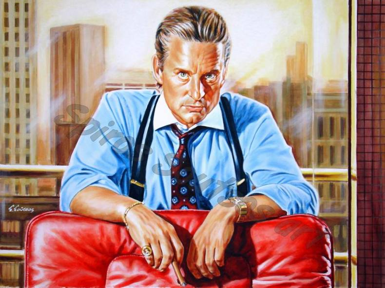 Michael_Douglas_painting_portrait_wall_street_movie_poster