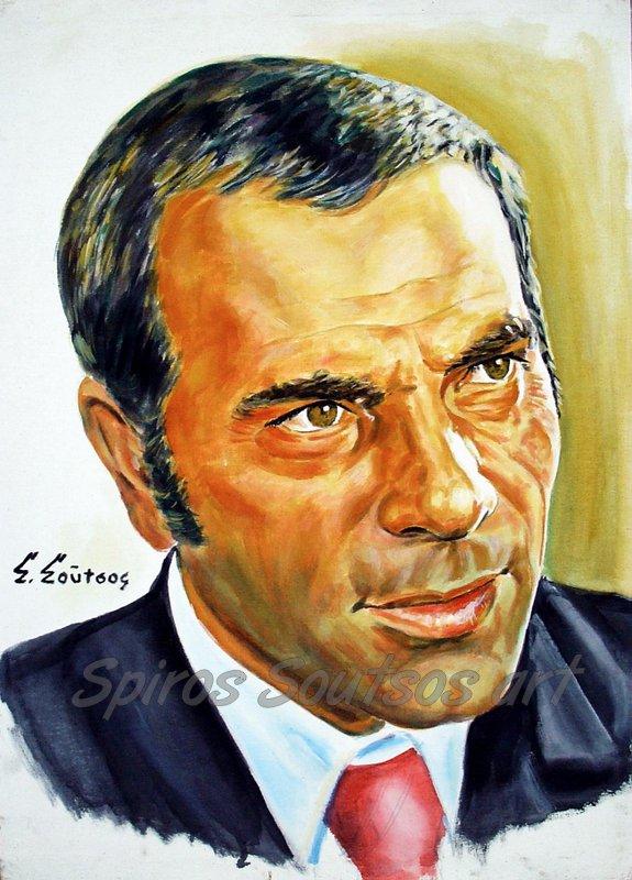 Stelios Kazantzidis painting portrait / Στέλιος Καζαντζίδης πορτραίτο-αφίσα, πίνακας ζωγραφικής, πόστερ