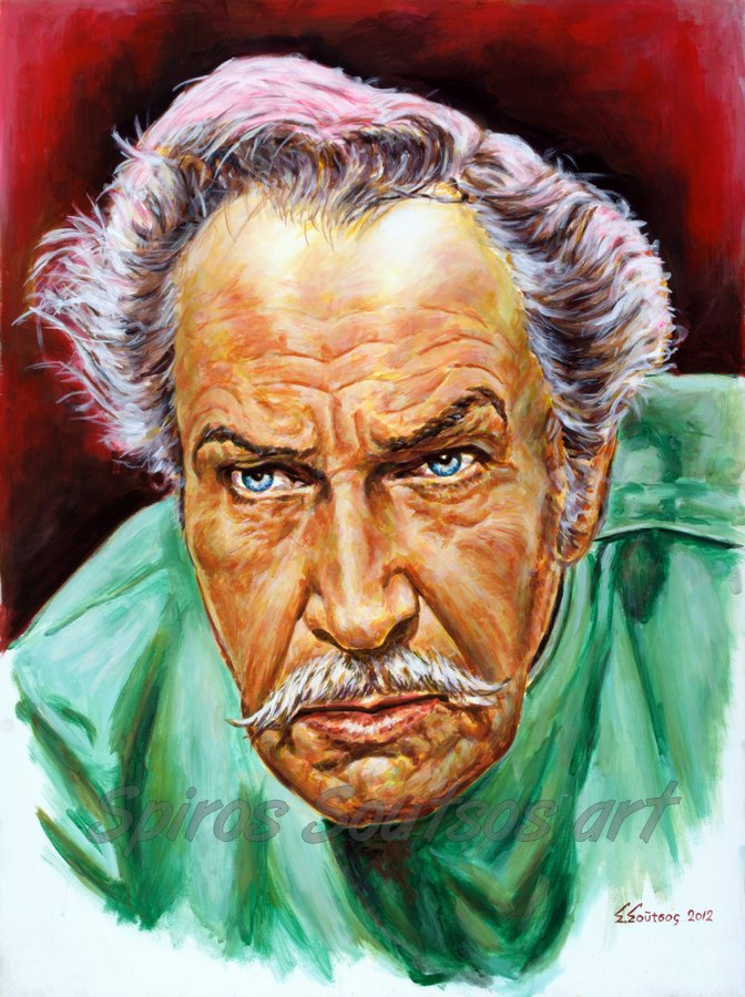 "Vincent Price painting portrait ""Theatre Of Blood"" 1973 movie poster original artwork"