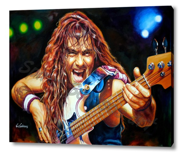 Iron-maiden-steve-harris-canvas-print-sale-poster