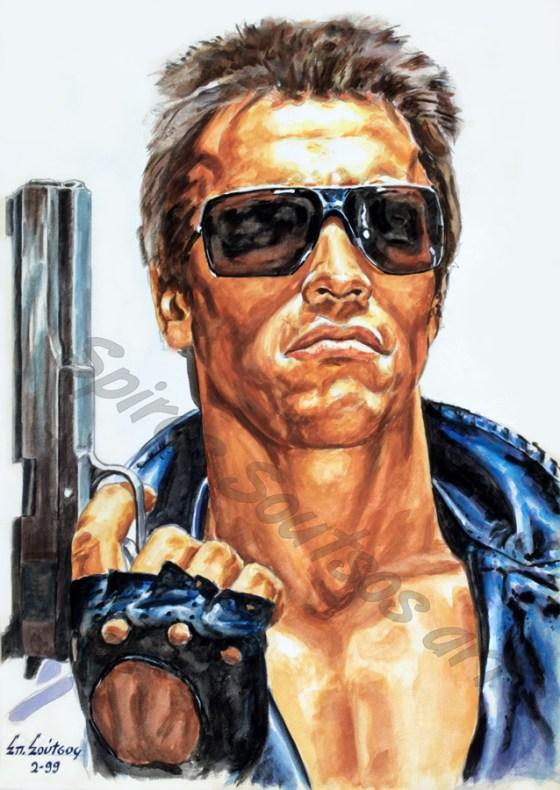 terminator_movie_poster_acrylic_painting_arnold_swarzenegger_portrait