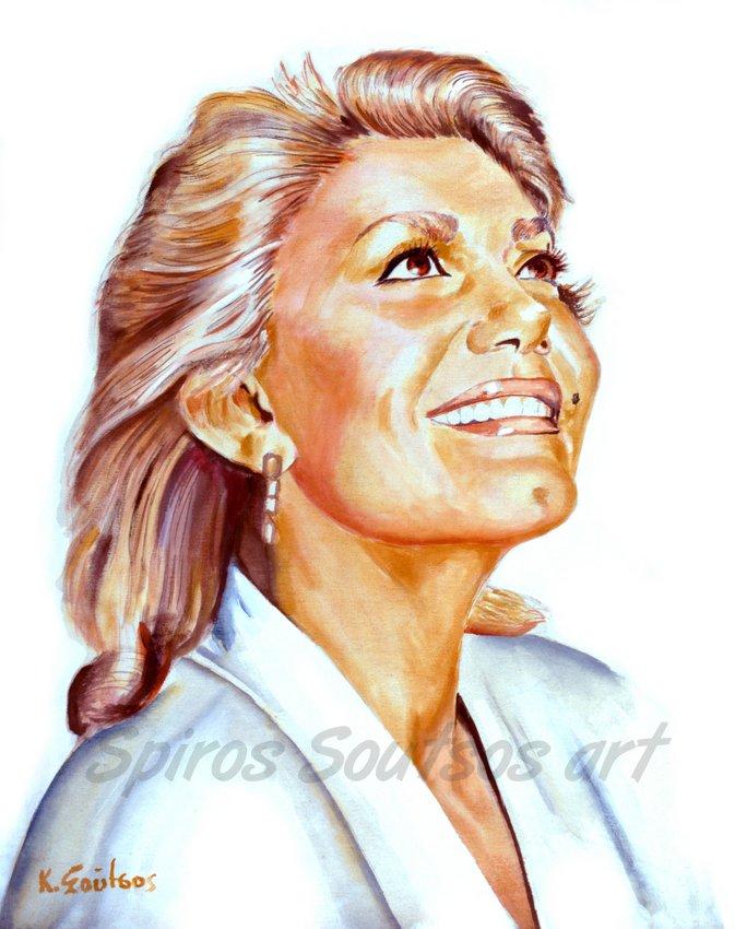 Marinella / Μαρινέλλα πορτραίτο, αφίσα, αυθεντικός πίνακας ζωγραφικής