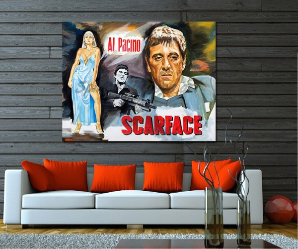 Scarface_Painting_movie_poster_al_pacino_portrait_sofa