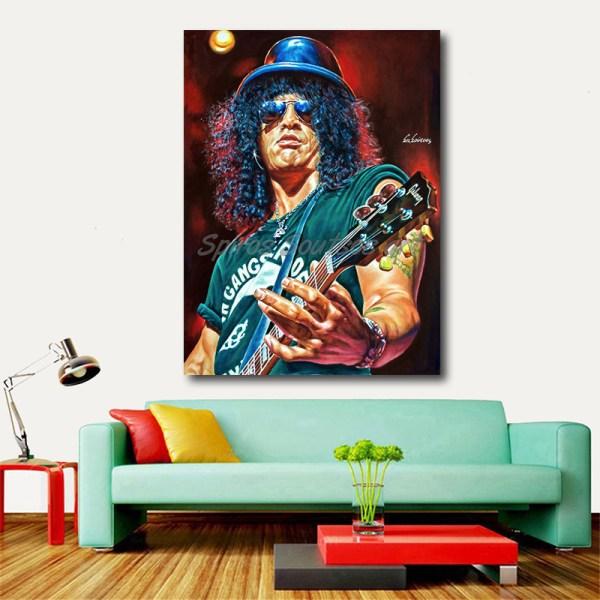 Slash_painting_portrait_Guns_Roses_poster_print_canvas_sofa