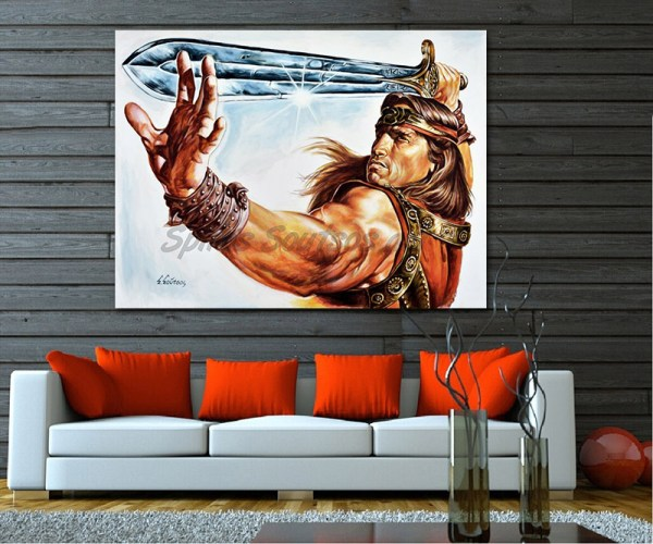 Conan_the_barbarian_painting_poster_arnold_scwharzenegger_portrait_sofa