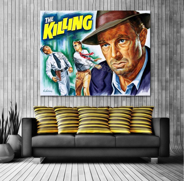 Sterling_Hayden_Killing_movie_poster_painting_painting_canvas_print