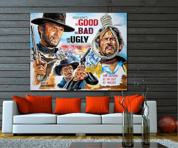 good_bad_ugly_poster_clint_eastwood_paitning_leone_print_canvas