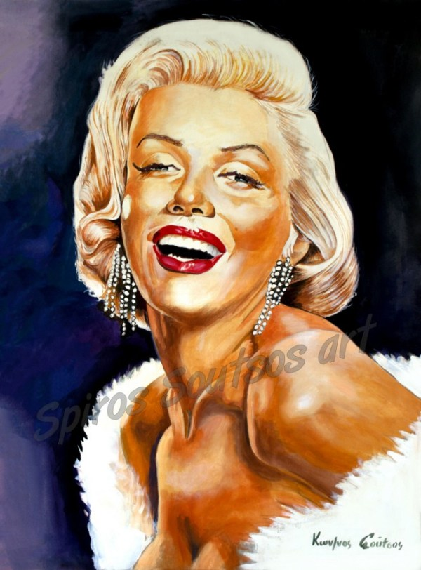 Marylin_Monroe_portrait_painting_poster_canvas_print