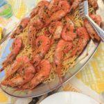 Giant shrimp pasta