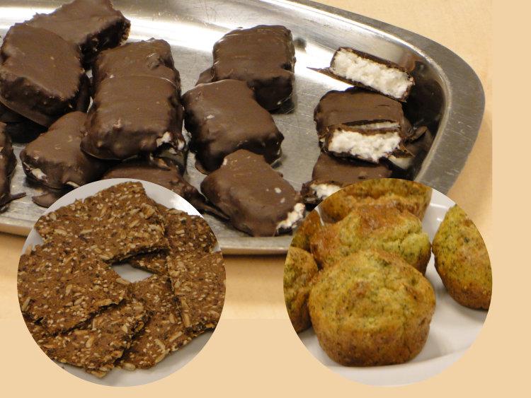 Glutenfri matglede kaker og knekkebrød