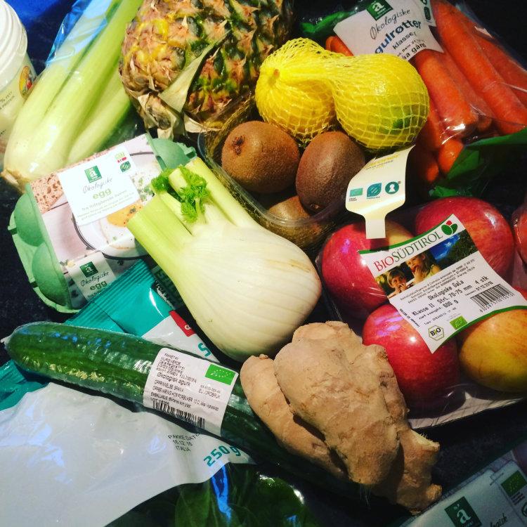 Grønnsaker, frukt og egg er gode valg