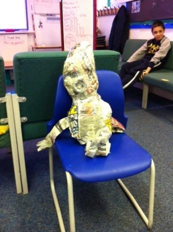 Newspaper Puppet 4