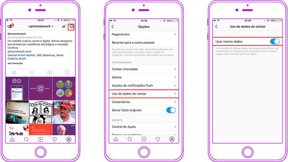 Economize seu plano de dados no Instagram