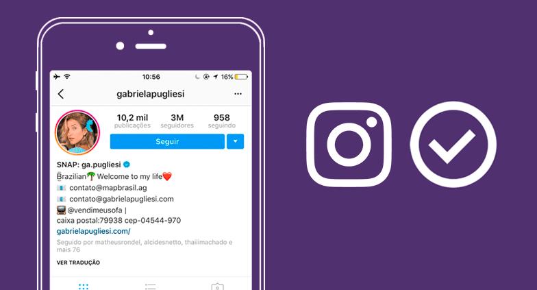 Como selos de verificação são obtidos no Instagram