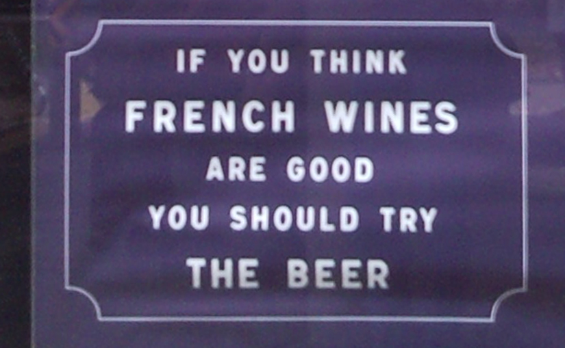 French beer ad