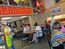 Bustling Chinese restaurant.
