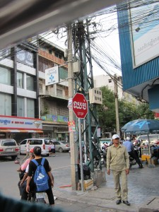 Cambodian stop sign.