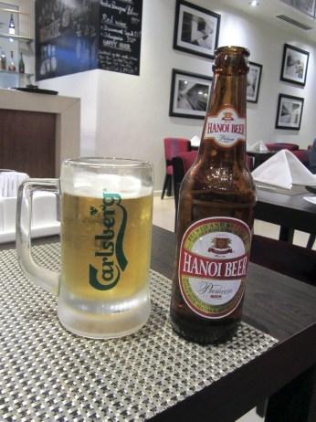 Hanoi Beer. Probably the best beer in Hanoi.