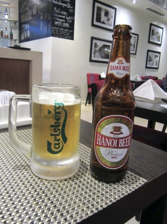 Hanoi Beer. Probably the best beer in Hanoi.