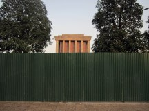 The masoleum was closed for renovation.