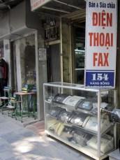 A fax machine shop. Bonus! A shop selling laminators.