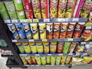 Pringles and not one, not two, but THREE copycat brands of chips at Circle K.