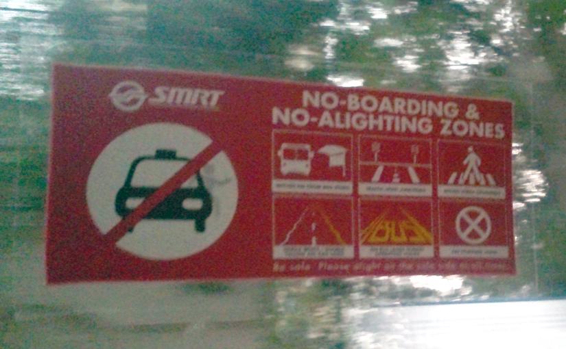 No-boarding and No-alighting Zones