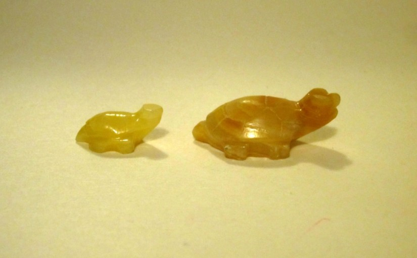 Tiny stone turtles