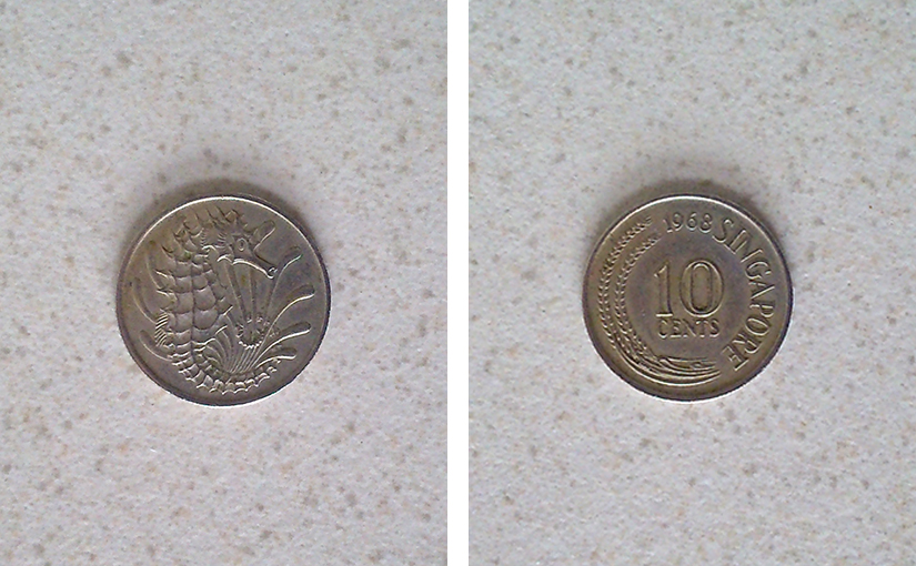 Old Singapore coin: It's a lucky day when you find one of these!