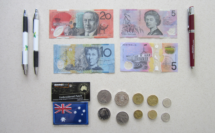 Bills and coins from Australia