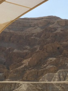 Qumran detail showing cave
