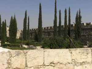 View of outer city wall