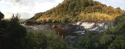 Divoká řeka Wairere fall