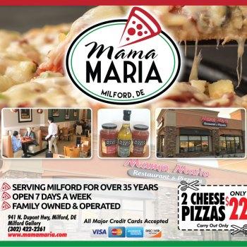 Mama Maria Restaurant Milford Delaware Ad